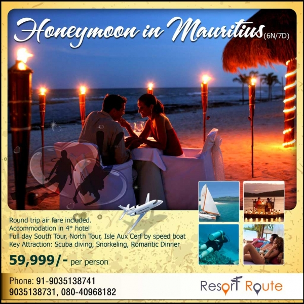 Tour Package - Mauritius Love Story only Rs.49999/-