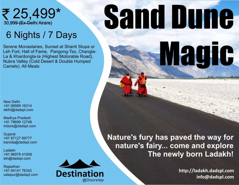 Tour Package - Sand Dune Magic, Leh & Nubra - Ladakh