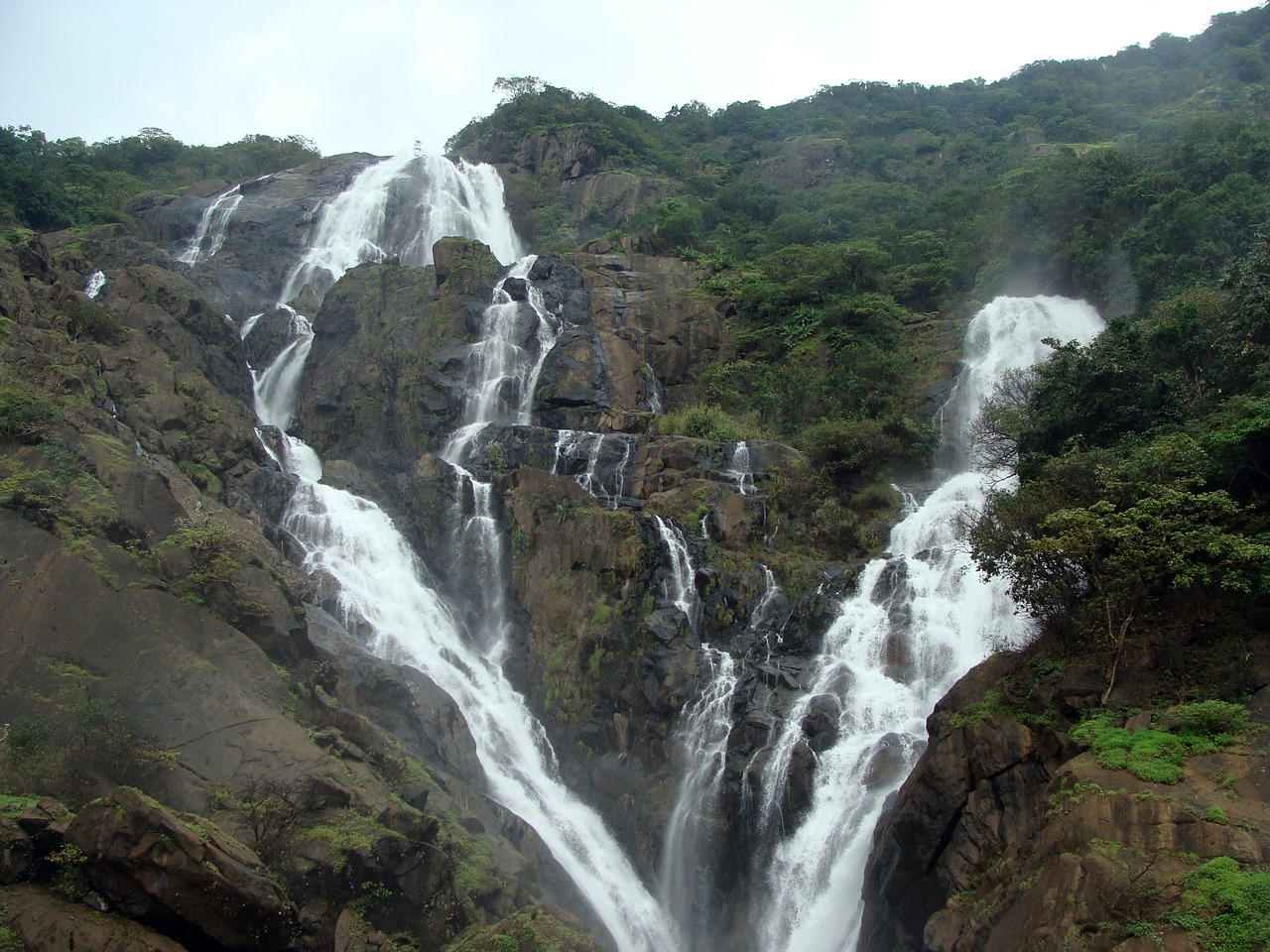 Dudhsagar with Water falls
